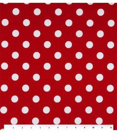 Missy I found this at Joann Fabric....We need the size of the tables to know how much to order Keepsake Calico Fabric-Large Dots On Lipstick
