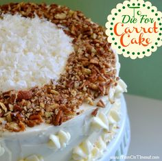 Best Carrot Cake Recipe EVER Made with Applesauce! - http://www.momontimeout.com/2012/08/to-die-for-carrot-cake-recipe/