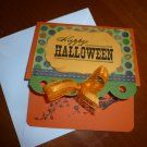 Handmade Halloween Card - Flying Witch