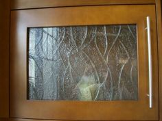 Textured Glass For Cabinet Door Inserts   Replace Outdated Mirrored Inserts