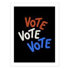 Vote, vote, vote - retro design | Gabi Toma's Artist Shop Typography Inspiration, Typography Design, Lettering, Special Characters, Retro Design, Board Ideas, Lower Case Letters, Lowercase A, Bulletin Board