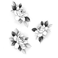 Floral Tattoo Design, Flower Tattoo Designs, Flower Tattoos, Full Tattoo, Dark Tattoo, Flower Outline, Flower Art, Family Tattoo Designs, Dibujos Tattoo