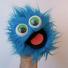mini gumball monster blue raspberry by banjopuppets on Etsy