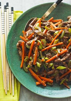 Szechuan Shredded Beef Stir-Fry – Thin strips of sirloin steak and veggies cut into matchsticks cook up quickly—and deliciously—in this elegant beef stir-fry.