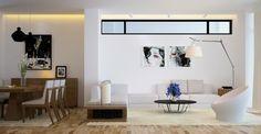 Cuisine et salon chene clair, design contemporain