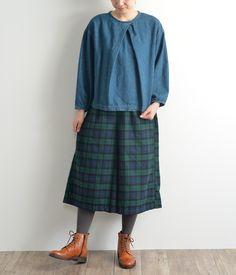 起毛ガウチョパンツ(F・ブラックウォッチ)[SALE]