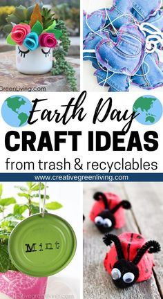 Mega List of the Best Earth Day Crafts to Make with Recycled Materials - Upcycling Cork Crafts, Diy Arts And Crafts, Crafts To Make, Easy Crafts, Crafts For Kids, Handmade Crafts, Earth Day Projects, Earth Day Crafts, Projects For Kids