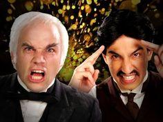 Nikola Tesla vs Thomas Edison.  Epic Rap Battles of History Season 2.    Tesla always wins.