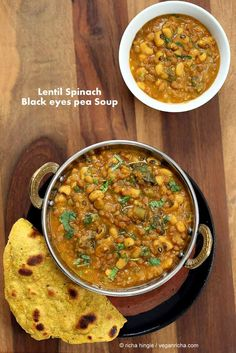 Richa's lentil and black eyed pea soup is full of protein and super simple!  via @veganricha