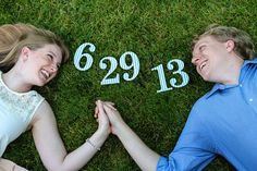 A favorite from our engagement photos - fun idea for a save-the-date!