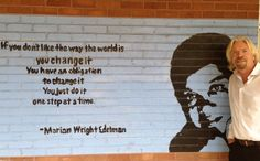 """""""If you don't like the way the world is, you change it. You have an obligation to change it. You just do it one step at a time. We Are The World, Change The World, Richard Branson Quotes, Religious Studies, Inside Job, Global Citizen, Empowering Quotes, How I Feel, First Step"""