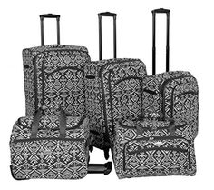 Luggage Sets Collections | American Flyer Aztec Spinner Luggage Set 5pc Red BlackWhite *** Check this awesome product by going to the link at the image. Note:It is Affiliate Link to Amazon.