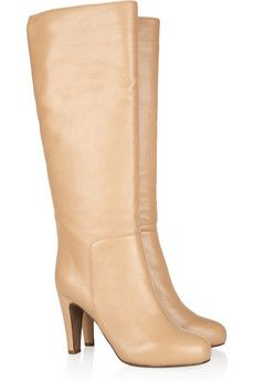 See by Chloé | Leather platform knee boots | NET-A-PORTER.COM