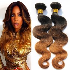 Ombre Hair 3 Bundles Peruvian Human Hair @ hairnparis.com