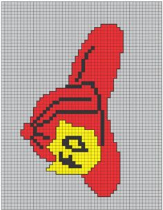 Fireman hat x-stitch Cat Cross Stitches, Cross Stitching, Cross Stitch Embroidery, Cross Stitch Patterns, Plastic Canvas Crafts, Plastic Canvas Patterns, Crochet Chart, Crochet Patterns, Free Crochet