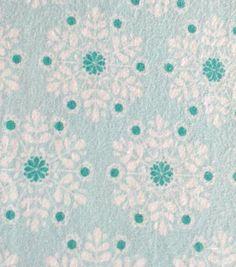 Snuggle Flannel Fabric Pretty Snowflake BlueSnuggle Flannel Fabric Pretty Snowflake Blue,