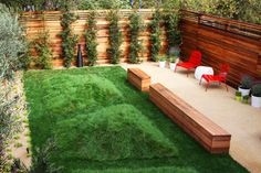 Like the fence, landscaping too