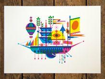 boat print