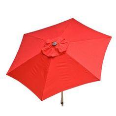 DestinationGear Doppler 8.5' Market Umbrella, Red