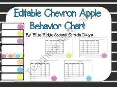 Editable Apple Behavior Chart and  Editable Behavior Calendars II from Blue Ridge Second Grade Days on TeachersNotebook.com -  (25 pages)  - This set includes 2 editable behavior charts and  calendars.