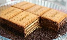Household Cake packets of Petit-Beurre pill of darkish chocolate Nestlé Dessert eggs -Four tablespoons instantaneous espresso Sweet Recipes, Cake Recipes, Snack Recipes, Dessert Recipes, Cooking Recipes, Snacks, Desserts With Biscuits, Köstliche Desserts, Delicious Desserts