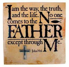 Jesus is The Way, The Truth, and The Life. It& that simple. Now comes the tough part: what do we mean by & Simple does not equal simplistic, and to have & personal relationship with Jesus Christ& is to seek to know Him on His own terms, and not ours. Bible Scriptures, Bible Quotes, Faith Quotes, Godly Quotes, Wisdom Bible, Healing Scriptures, God's Wisdom, Blessed Quotes, Prayer Verses