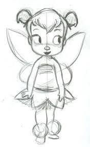 Tinkerbell by Steve Thompson shared by on We Heart It Disney Drawings Sketches, Fairy Drawings, Cool Art Drawings, Cartoon Drawings, Drawing Sketches, Arte Disney, Disney Art, Doodle Art, Tinkerbell