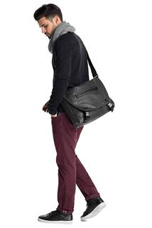soft faux leather messenger bag