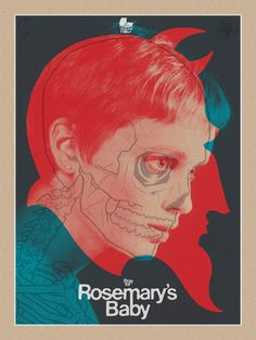 Brian Ewing's 2014 poster for the classic 'Rosemary's Baby' Horror Movie Posters, Cinema Posters, Movie Poster Art, Horror Movies, Rosemaries Baby, Baby Posters, The Rocky Horror Picture Show, Street Art, Kunst Poster