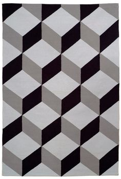 Must-Have: Tumbling Block Flatweave Rug