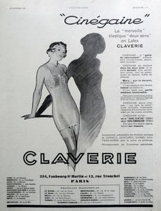 What you buy is an original page from the French magazine L'Illustration issued on February 23, 1935 featuring an advertisement for CLAVERIE underwear.  Retro poster for ... #etsymntt #a4team #groupgos #art #print #lithograph