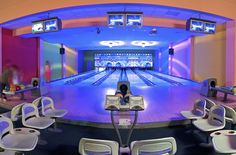 Bowling lanes at Ocean Blue & Sand resort in Punta Cana, Dominican Republic.