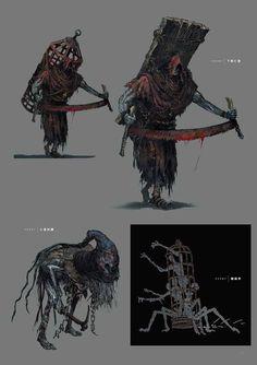 Dark Fantasy Art, Dark Art, Character Art, Character Design, Dark Souls Art, Monster Concept Art, Monster Design, Arte Horror, Weapon Concept Art