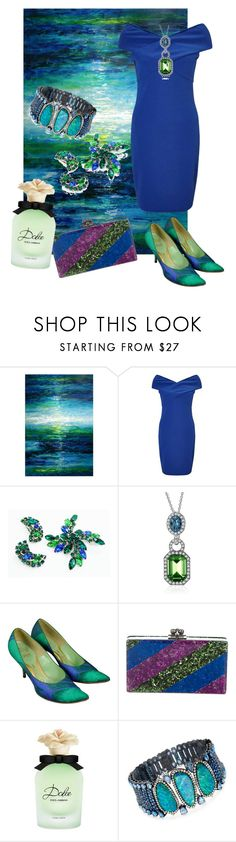 """""""Dark Waters"""" by heinemac on Polyvore featuring Leftbank Art, Miss Selfridge, Edie Parker, Dolce&Gabbana and Ross-Simons"""