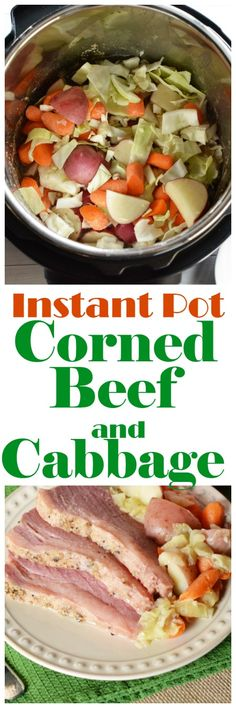 Instant Pot Corned Beef and Cabbage Recipe   Last minute St. Patrick's Day Tips via @brettmartin