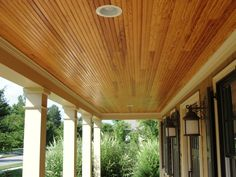 Stained Beadboard Ceiling Porch 804 282 0129 Stevenr Virginiatraditionbuilders 7607
