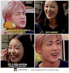 That MC's (Shin Go Eun) reaction is adorable