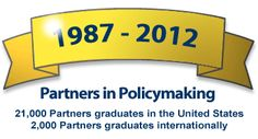 1987-2007, Partners in Policymaking - 21,000 Partners graduates in the United States, 2000 Partners graduates internationally  -  FREE Training Program that is often provided by State Developmental Disability Councils.  Also a FREE e-learning course on the history of disability advocacy and training for self advocacy.