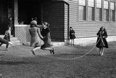 Skipping rope at recess.  Kids just don't do stuff like this anymore.  So sad.
