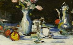 Samuel John Peploe - Still Life on a Dark Background