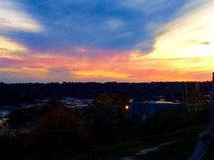 Oregon Hill Overlook, late stage of sun setting on the James River