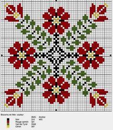 C2c Crochet, Crochet Doilies, Patchwork Quilt Patterns, Dmc, Cross Stitch Rose, Red Pattern, Needlepoint, Cross Stitch Patterns, Christmas Sweaters