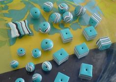 Simple and colorful assorted beads of different shapes Polymer Clay Kawaii, Sculpey Clay, Polymer Clay Animals, Polymer Clay Projects, Polymer Clay Pendant, Polymer Clay Earrings, Polymer Clay Miniatures, Clay Charms, Clay Tutorials