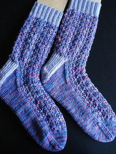 Shetland Lace Rib Socks