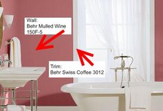 20 Bathroom Paint Colors To Inspire Your Redesign: Wine and Coffee in Your Bathroom?