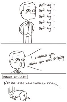 Ahahaha, poor guy. You know he thought this too. Then he just made it worse and worse. #TheAvengers #Coulson