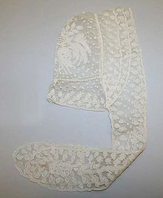 Mid 19th c.  American w/ lappets  The Met. collection