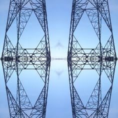 Mirrored pylons 1