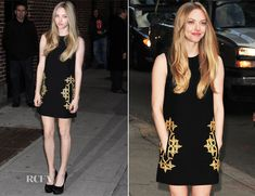Amanda Seyfried In Michael Kors – Late Show with David Letterman