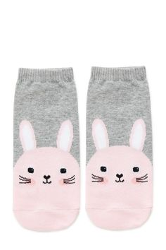 Shop ankle socks, knee-highs, and crew socks in fun colors and prints Funny Socks, Cute Socks, Tennis Socks, Forever 21 Outfits, Cute Tights, Bunny Face, Crazy Socks, Short Socks, Kids Socks